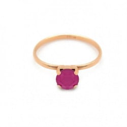 Anillo peony pink de Celine en oro rosa
