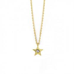 Gold Celeste Star Pendant Crystal