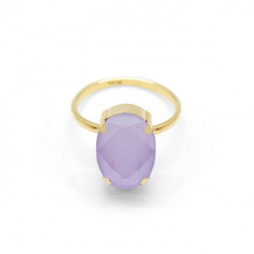 Gold Ring Celine oval big Lilac