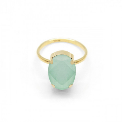 Anillo ICONIC Mint Green - Oro