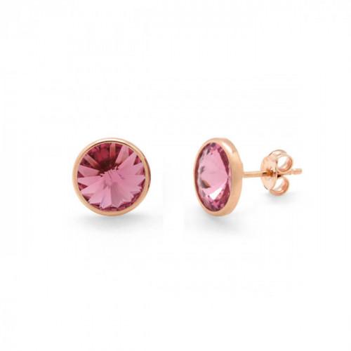 Pink Gold Earrings Basic S