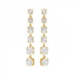 Pendientes redondos crystal de Celine en oro