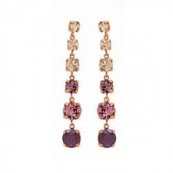Pink Gold Earrings Celine Stellar