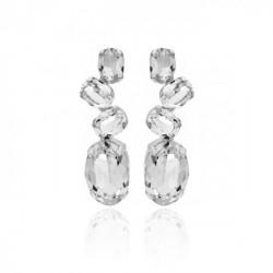 Pendientes oval crystal de Celine en plata