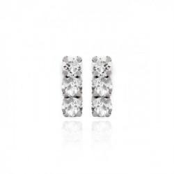 Pendientes crystal de Celine en plata