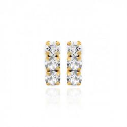Pendientes crystal de Celine en oro
