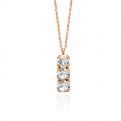 Collar crystal de Celine en oro rosa