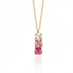 Collar Celine minis oro rosa