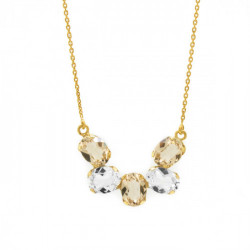 Collar semicírculo light silk de Aura Celine en oro