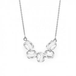 Collar semicírculo crystal de Aura Celine en plata