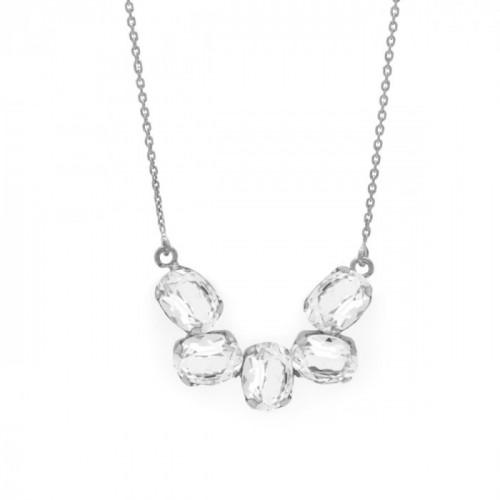 Collar Céline Crystal - Plata