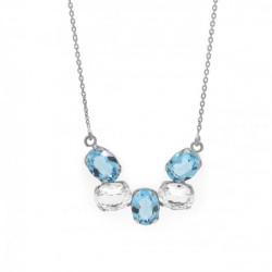 Collar semicírculo aquamarine de Aura Celine en plata