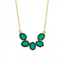 Collar semicírculo emerald de Aura Celine en oro