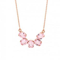 Collar semicírculo light rose de Aura Celine en oro rosa