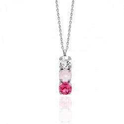 Collar powder rose de Celine en plata