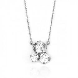 Collar crystal de Celine en plata