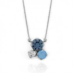 Collar denim blue de Celine en plata
