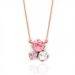 Pink Gold Necklace Celine circles