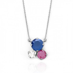 Collar royal blue de Celine en plata