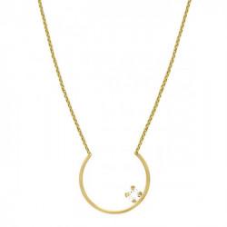 Collar Semicírculo con Crystal en dorado