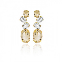 Gold Earrings Celine Aura