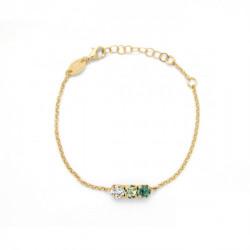 Pulsera círculos emerald de Celine en oro