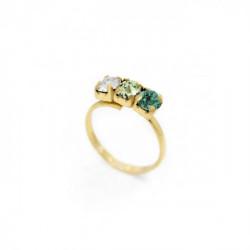 Anillo triple emerald de Celine en oro