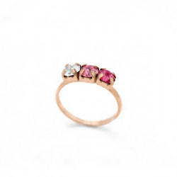 Pink Gold Ring Celine three minis