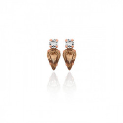 Pink Gold Earrings Celine Drops