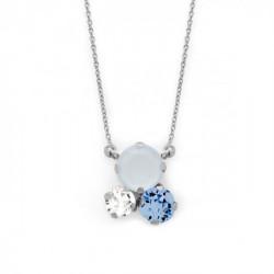 Silver Necklace Celine circles