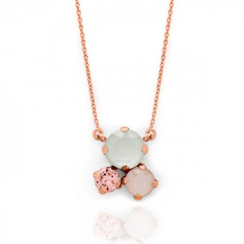 Collar Celine circles oro rosa