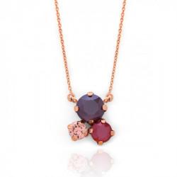 Collar dark red de Celine en oro rosa