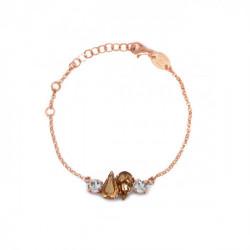 Pulsera lágrima crystal de Celine Beatriz en oro rosa