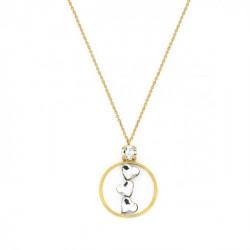 Collar corazones crystal de Cuore Love en oro