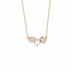Collar Celine tres ovales oro