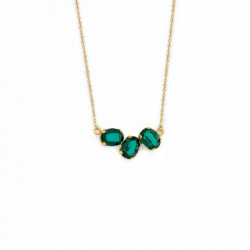 Gold Necklace Celine three oval