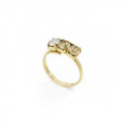 Gold Ring Celine three minis