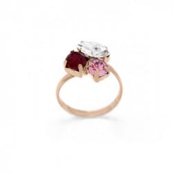 Pink Gold Ring Celine X3