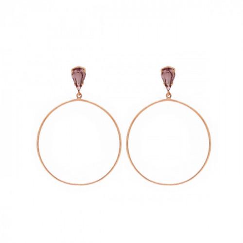 Pendientes Hoop XL oro rosa
