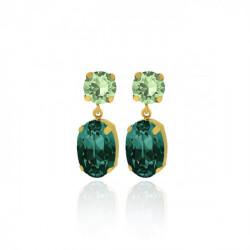 Pendientes oval emerald de Celine en oro
