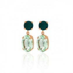 Pink Gold Earrings Celine double