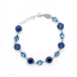 Pulsera círculos royal blue de Celine en plata