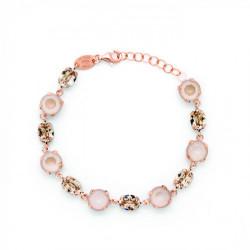 Pulsera círculos ivory cream de Celine en oro rosa