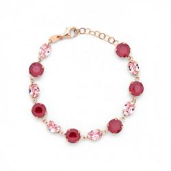 Pulsera círculos royal red de Celine en oro rosa