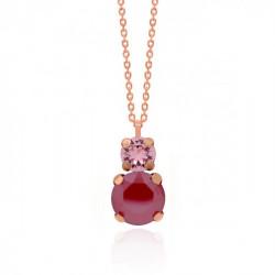Collar tú y yo royal red de Celine en oro rosa
