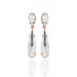 Pink Gold Earrings Celine Drops mini