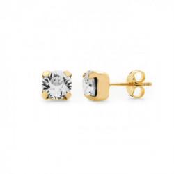 Pendientes redondos crystal de Celine Basic en oro