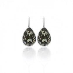 Essential treardrop diamond earrings in silver