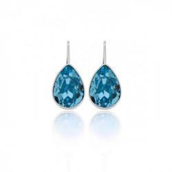 Pendientes lágrima aquamarine de Essential en plata