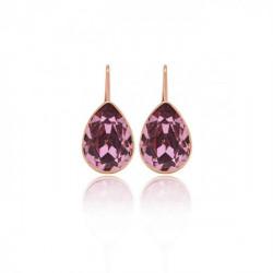 Pendientes lágrima antique pink de Essential en oro rosa